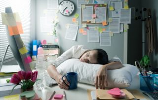 a woman with chronic fatigue and symptoms of an underactive thyroid gland