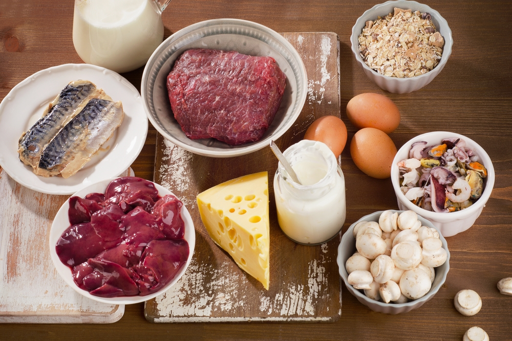B12 deficiency- picture of foods high in B12